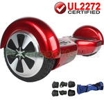 Burgundy UL2272 Certified Balancing Scooter Hoverboard, w/Free Protection Kits and Free Bag! Free Shipping!