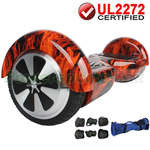 Hot Rod Flame UL2272 Certified Balancing Scooter Hoverboard, w/Free Protection Kits and Free Bag! Free Shipping!
