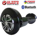 "8"" Black Lamborghini Version UL2272 Certified Hoverboard, With Bluetooth Speaker, Fender Flashlight, Free Shipping!"