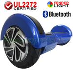 "8"" Blue Lamborghini Version UL2272 Certified Hoverboard, With Bluetooth Speaker, Fender Flashlight, Free Shipping!"