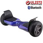 "8.5"" Blue UL2272 Certified Electric Self Balancing Scooter Hoverboard, with Bluetooth Speaker, Free Shipping!"