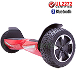"8.5"" Red UL2272 Certified Electric Self Balancing Scooter Hoverboard, with Bluetooth Speaker, Free Shipping!"