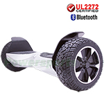 "8.5"" Silver UL2272 Certified Electric Self Balancing Scooter Hoverboard, with Bluetooth Speaker, Free Shipping!"