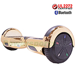 "6.5"" Chrome Gold UL2272 Certified Self Balancing Scooter Hoverboard, Bluetooth Speaker, LED Lights, Free Shipping!"