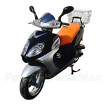 "MC-C77 50cc Moped Scooter With 13"" Wheels, Front Disc/ Rear Drum Brake! Belt Drive! Rear Carrying Basket!"