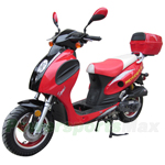 "MC-D01KS 50cc Sports Moped Scooter with 10"" Aluminum Rim, Rear Trunk!"