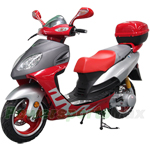 "MC-D04B 150cc Moped Scooter with 13"" Aluminum Rim, Rear Trunk!"