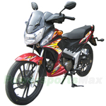 "MC-D05 127cc Street Motorcycle with Semi Automatic Transmission, 17"" Big Wheels!"