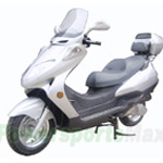 MC-D13L 150cc Moped Scooter with 13' Wheels ,Windshield, Rear Trunk! MP3 Adapter Include!