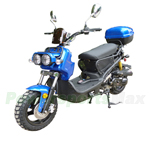 "MC-D22Y-150 150cc Sports Moped Scooter, 12"" Aluminum Rim Wheels, Electric/Kick Start! Rear Trunk! Fully Assembled!"