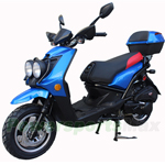 "MC-D31A 150cc Moped Scooter with 12"" Wheels! Rear Trunk! Fully Assembled! New Arrival!"