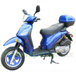 "MC-D36 150cc Moped Scooter with 12"" Aluminum Wheels, Front & Rear Disc Brakes, Rear Trunk!"