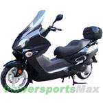 "MC-D54 250cc Scooter with 13"" Aluminum Rims, Windshield, Remote Control, Rear Trunk!"