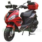 "MC-D58 150cc Moped Scooter with Sports Style, 12"" Wheels, Electric/kick Start! Rear Trunk! Fully Assembled!"
