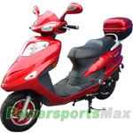 "MC-D71 150cc Moped Scooter with 10"" Wheels, Dual Mufflers, Rear Trunk! Fully Assembled!"
