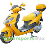 "MC-D72 150cc Moped Scooter with Sports Style Design, 13"" Wheels and Rear Trunk! Fully Assembled!"
