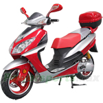 "MC-D75Y 150cc Moped Scooter with Sports Style Design, 13"" Wheels and Rear Trunk!Fully Assembled!"