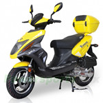 "BMS Tuscan 50cc Moped Scooter with 12"" Wheels, Rear Trunk! Made by ZNEN, High Quality!Free Shipping!"