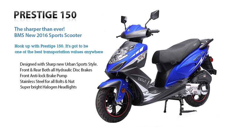 BMS Prestige 150cc Moped Scooter with 13