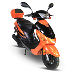 "MC-F003 50cc Moped Scooter with 10"" Wheels! Electric/Kick Start! Disc/Drum Brake! Brand New, Fully Assembled!"