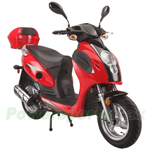 "MC-G005 Valero 150cc Moped Scooter with Sports Style, 13"" Wheels, Electric/Kick Start! Rear Trunk!"