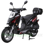 "MC-G010 Challenger 50cc Moped Scooter with LED Light! 12"" Wheels! Electric/Kick Start! Rear Trunk!"