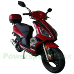 "MC-G023 150cc Moped Scooter with USB/SIM System! 13"" Wheels, Electric/Kick Start! Rear Trunk!"