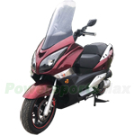 "MC-G032 GTS-250 250cc Scooter with 13"" Wheels, With Windshield, Electric/Kick Start!"
