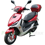 "MC-G034 Viper 50cc Moped Scooter with 10"" Wheels! Electric/Kick Start! Rear Trunk!"