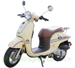 "MC-M03 Milano 50cc Moped Scooter with Stylish Design, 10"" Wheels, Electric/Kick Start! Fully Assembled!"