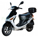 "MC-N006 50cc Moped Scooter with 10"" Wheels, Rear Trunk, Electric start/Kick start!"