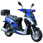 "MC-N009 50cc Moped Scooter with 10"" Wheels, Rear Trunk! Electric start/Kick start!"