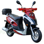 "MC-N010 50cc Moped Scooter with 10"" Wheels, Rear Trunk! Electric start/Kick start!"