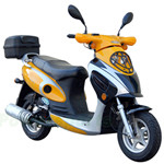 "MC-N010 50cc Moped Scooter with 10"" Wheels, Rear Trunk! Electric start/Kick start! Large Headlight!"