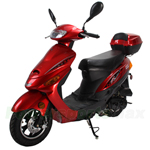 "MC-N013 50cc Moped Scooter with 10"" Wheels, Rear Trunk, Electric start/Kick start! Large Headlight!"
