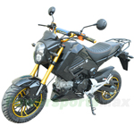 "MC-N014 125cc Street Motocycle with Manual Transmission, Electric/Kick Start! 12"" Aluminium Wheels!"