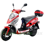 "MC-T02 50cc Sports Moped Scooter, 10"" Wheels, Rear Trunk!"