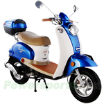 "MC-T05 50cc Classic Moped Scooter, 10"" Wheels, Rear Trunk!"