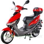 "MC-T06 50cc Moped Scooter, 12"" Wheels,Electric and Kick start!Rear Trunk!"