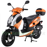"MC-T07 150cc Moped Scooter with Sports Style, 12"" Black Wheels, Rear Trunk!Free Gifts!"