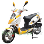 "MC-X10 150cc Moped Scooter with Sports Style, 12"" Aluminum Wheels, New Arrival!"