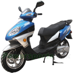 "MC-X11 150cc Moped Scooter with Sports Style, 13"" Aluminum Wheels, New Arrival!"
