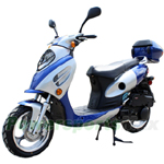 "MC-X24 150cc Moped Scooter with Sporty Style, 13"" Aluminum Wheels and Rear Trunk!"