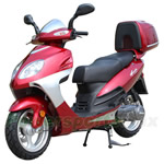 "MC-C61 200cc Moped Scooter with 13"" Wheels and Rear Trunk! Belt Drive, Electric/Kick Start!"