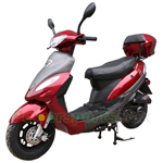 "MC-X62 50cc Moped Scooter with 10"" Wheels, Rear Trunk! Great Deal!Fully Assembled!"