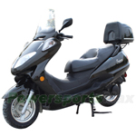 MC-X63 150cc Moped Scooter with Two Step Seat! , Aluminum Wheels, Windshield, Rear Trunk!