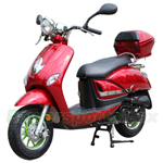 MC-X65 50cc Moped Scooter with Sports Style, Aluminum 10'' Wheels,Large Rear Storage Trunk!Fully Assembled,High Quality!