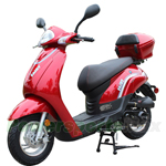 MC-X68 50cc Moped Scooter with Sports Style, Aluminum 10''  Wheels,Large Rear Storage Trunk!Fully Assembled New,Upgraded!