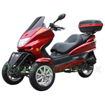 "MC-C70 150cc Trike Scooter with Automatic Transmission, with Windshield and Rear Trunk! Electric/Kick Start! 12""/13"" Wheels!"