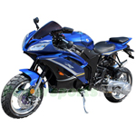 "MC-C76  200cc Sports Style Street Motorcycle with CVT Transmission, Electric Start! 13"" Wheels!"